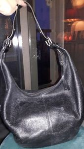 BANANA REPUBLIC Black Leather Hobo Bag Purse